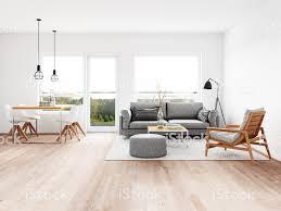 Moderne Wohnzimmer Mit Esszimmer Stockfoto Und Mehr Bilder