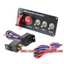 popular starter switch panel buy cheap starter switch panel lots 3ac 12v carbon looking racing ignition switch panel engine car ignition starter mainland