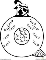 Small Picture The Letter Q Coloring Page Worksheets Preschool learning and