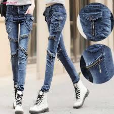 Женские мото <b>байкерские джинсы</b> на молнии, обтягивающие ...
