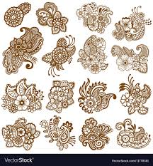 Design Patterns Interesting Mehndi Design Patterns Royalty Free Vector Image