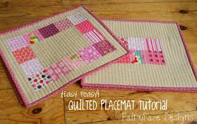 easy peasy quilted placemats tutorial