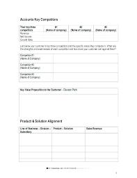 Strategic Account Plan Template Fresh Best Sample Sales Key