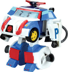 <b>Robocar Poli</b> Игрушка-трансформер <b>Поли</b> 10 см, цвет <b>голубой</b> ...