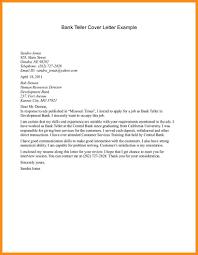 100 Sample Cover Letter For Bank Teller Position Sample