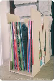 DIY Magazine Rack | DIY Magazine Rack Projects | DIY Magazine Storage Ideas  | DIY Magazine