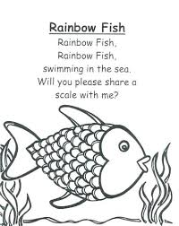 easy coloring pages of fish fresh rainbow fish coloring page