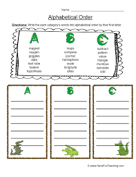 Alphabetical Order Worksheets | Have Fun Teaching