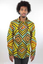 African Print Men S Shirt Designs African Print Mens Shirt Button Up Geometric Shirt Squares