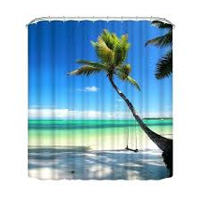 nature shower curtains polyester fabric fall bathroom shower coconut tree nature scenery waterproof nature shower curtain nature shower curtains