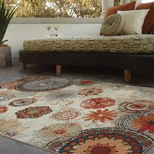 get ations mohawk home alexa medallion indoor outdoor nylon rug multi colored