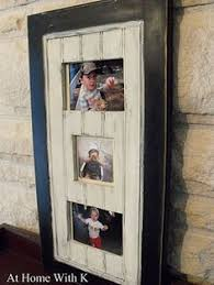 old cabinet doors turned into picture frames great idea