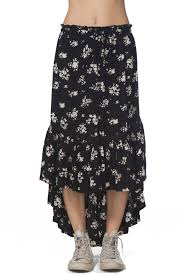 Rip Curl Lakehouse Ruffle High Low Skirt Nordstrom Rack