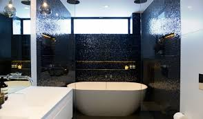 a gorgeous tiled bathroom featured on the aussie version of the block