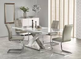 image is loading sandor2160220cmgreyglassampwhite modern extendable dining table58