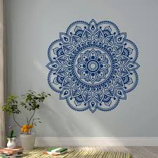 wall decal vinyl sticker mandala ornament lotus flower yoga indian decor meditation art bedroom yoga studio