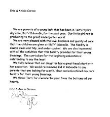 Daycare Reference Letter Ideal Vistalist Co