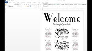 How To Make A Wedding Seating Chart With Ms Word And A Browser