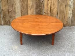 maple round shaker coffee table