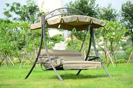 garden metal furniture. sentinel foxhunter fhsc03 garden metal swing hammock 3 seater chair bench patio outdoor furniture a