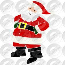 Santa Watermark Santa Stencil For Classroom Therapy Use Great Santa Clipart