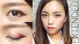 korean ulzzang style burgundy makeup for fall