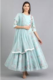 Blue Green Online Dresses For Women Online Kurta Sets Ladies Dresses W For