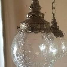 vintage pendant lighting fixtures. Antique Vintage Hanging Light Fixture 2 Cracked Glass Globes 1930s Pendant Lighting Fixtures N