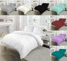 details about 100 egyptian cotton 200tc duvet quilt bedding set single double super king size