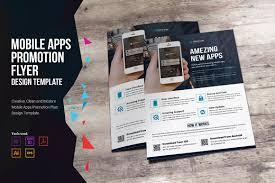 mobile apps promotion flyer flyer templates on creative market