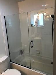 bathtub glass door install san go