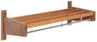 48 Coat Rack WallMounted Wood Slat Coat Rack 100 W Holds 100 Hangers ATDCAPITOL 95