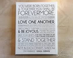 On Marriage Kahlil Gibran The Prophet Wedding Anniversary Large Canvas Print 75 Depth With White Edges 20x24 24x30
