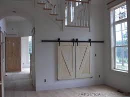 Doors Bypass Sliding Barn Door Hardware Track Kit With Bi Parting ...