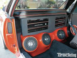 beautiful homebrew high tech handbuilt stereo system truckin chevrolet el camino custom pickup interior with chevy el camino interior