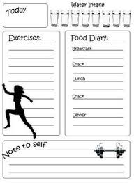 Printable Workout Journal For Myself To Track My Daily Foods