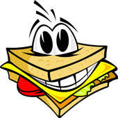 sandwich clipart. Delighful Clipart Sandwich And Coffee Smiling Sandwich Inside Clipart S