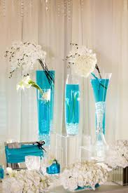 Turquoise And White Wedding Decorations Turquoise In Wedding Decorations Deco Tables Pinterest