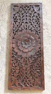 36 x 14 thai carved wall art panel