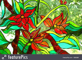 craft painting on a window drawn the paints of stained glass windows i