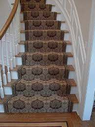 Comely Staircase Decoration With Various Staircase Carpet Runner Width :  Delightful Home Interior Stair Decoration Using