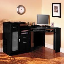 corner office desk wood. Corner Office Desk Ideas Using Black Oak Wood Computer With Keyboard Drawer And Storage O