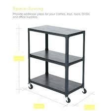 rolling office cart. Mobile Office Cart Rolling Shelf Unit 3 Tier Wooden Shelving D