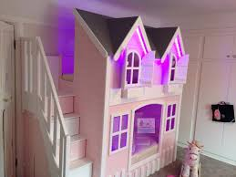 House Bunk Bed House Bunk Beds With Led Lights Andersons Themes And Dreams