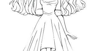 Girl Coloring Pages To Print Anime Wolf Girl Coloring Pages Download