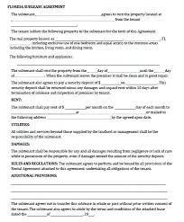 Sample Sublease Agreement Printable Sample Sublease Agreement Template Form Example