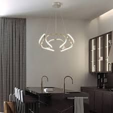 dining kitchen low profile chandeliers chrome curved led pendant light 23 62