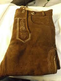 Edelnice Bavarian Traditional Leather Trousers Lederhosen With Suspenders Medium