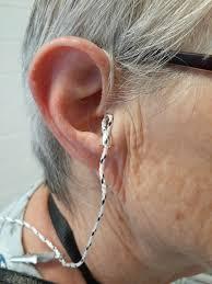 wearing hearing aids