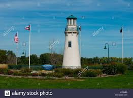 Beacon Of Light Toledo Ohio Light House In Point Place Toldeo Ohio Stock Photo